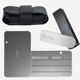 Ledger Nano X + Cobo Tablet + чехол кожаный